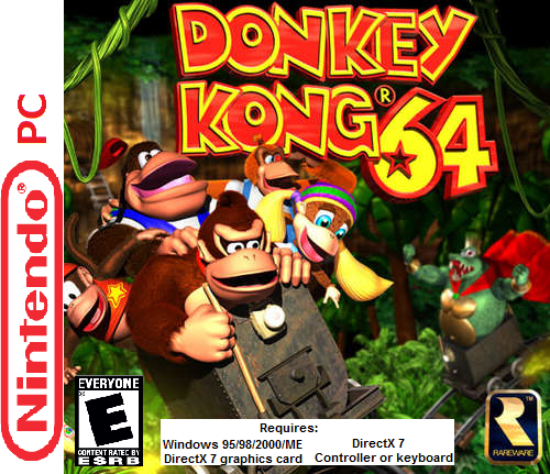 Donkey Kong 64 box cover