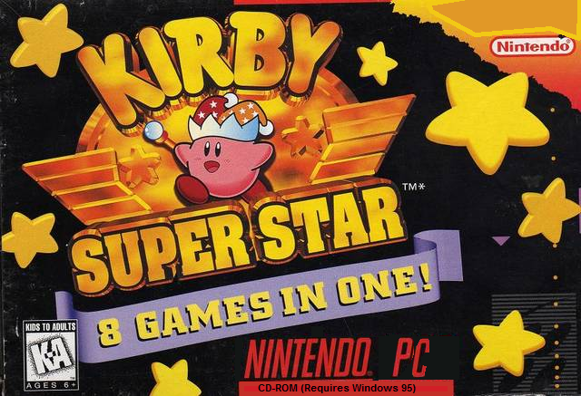Kirby Super Star box cover