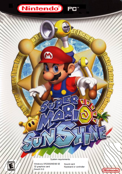 Super Mario Sunshine box cover