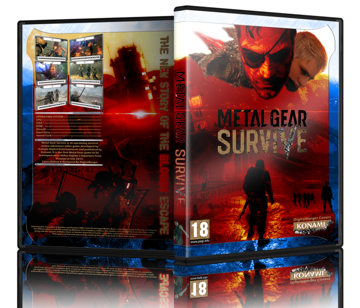 Metal Gear Survive Pc Box Art Cover By Digitalburger