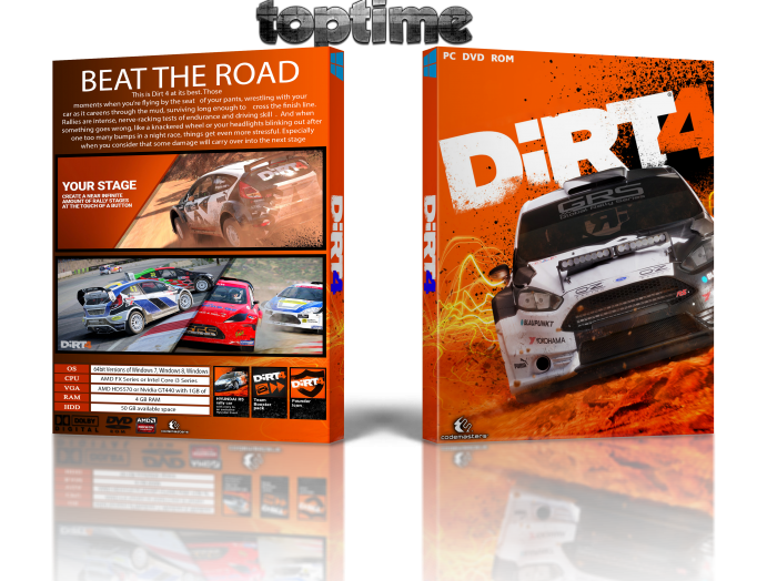 dirt 4 pc box art cover by toptime. Black Bedroom Furniture Sets. Home Design Ideas