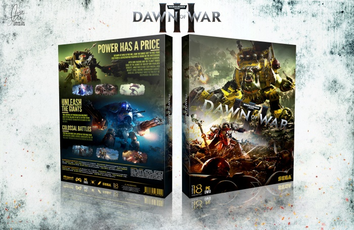 Warhammer 40000: Dawn of War 3 box art cover