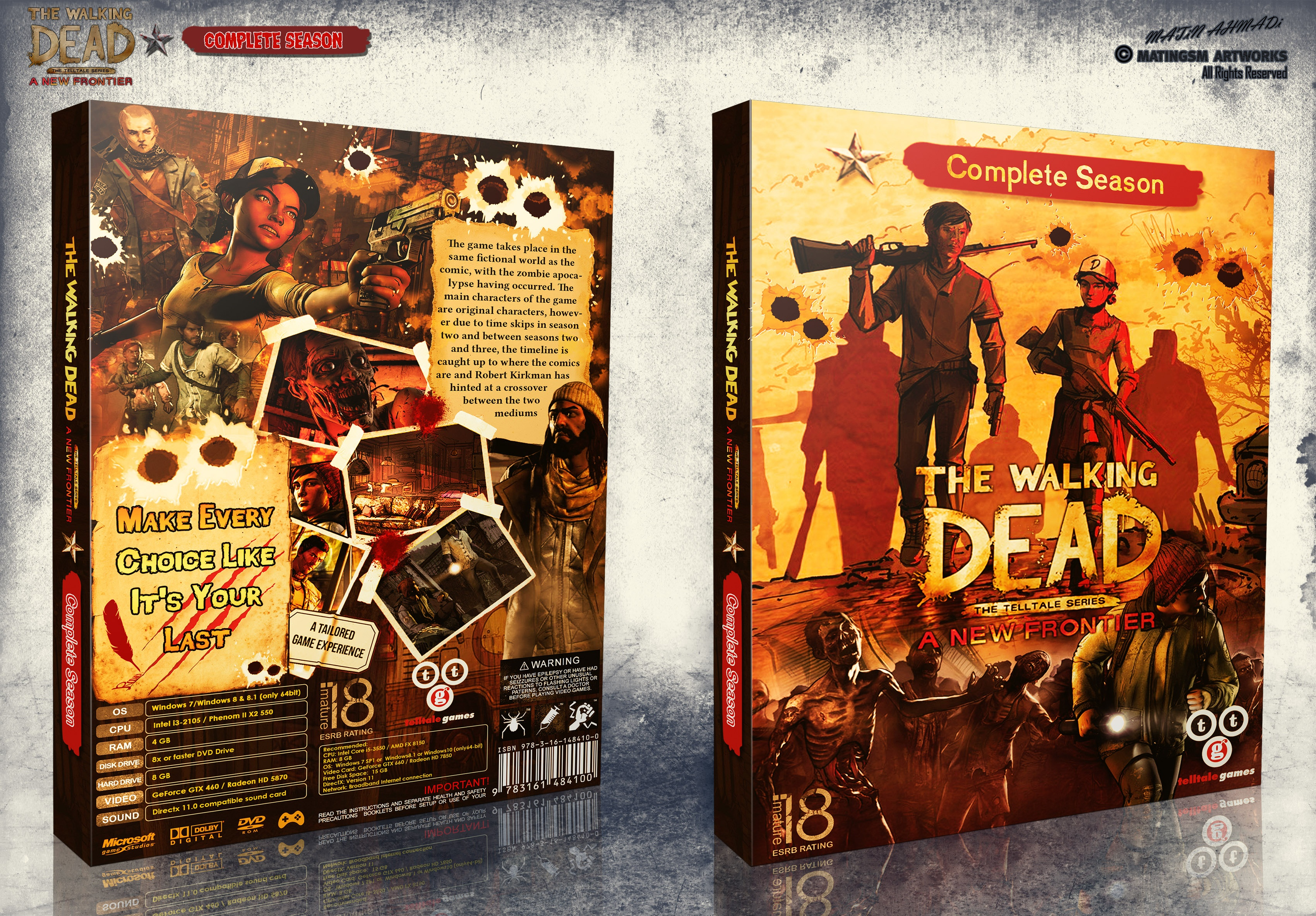The Walking Dead A New Frontier Complete box cover