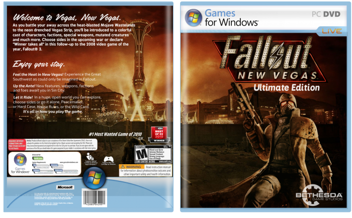 Fallout: New Vegas Ultimate Edition box art cover