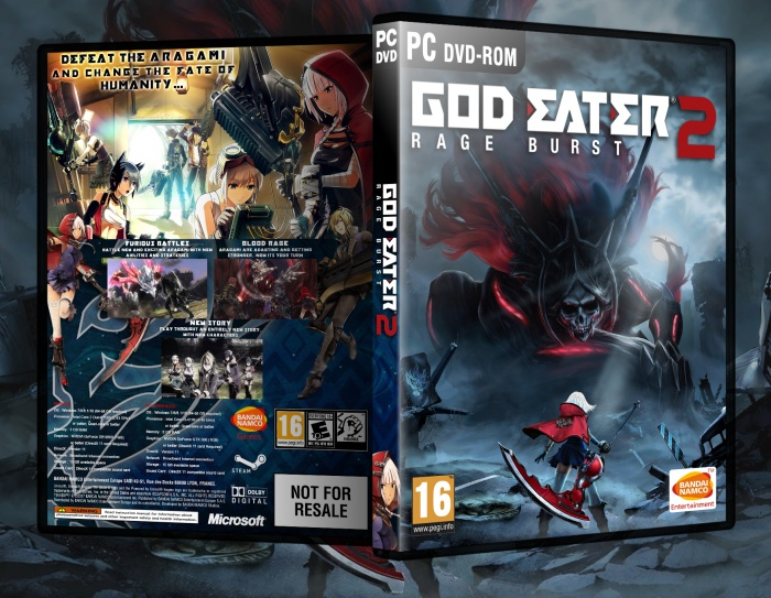 God Eater 2 Rage Burst box art cover