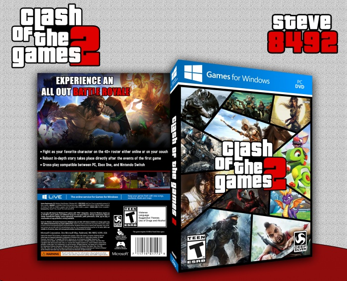 Clash Of The Games 2 box art cover