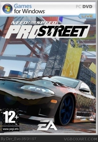 need for speed pro street coll box pc box art cover by. Black Bedroom Furniture Sets. Home Design Ideas