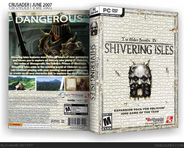 The Elder Scrolls IV: Shivering Isles box art cover
