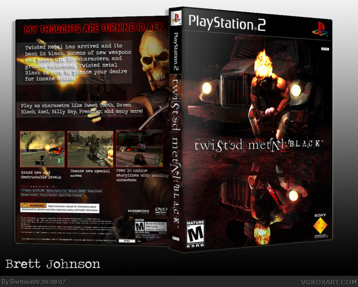 twisted metal black playstation 2 box art cover by brettska99