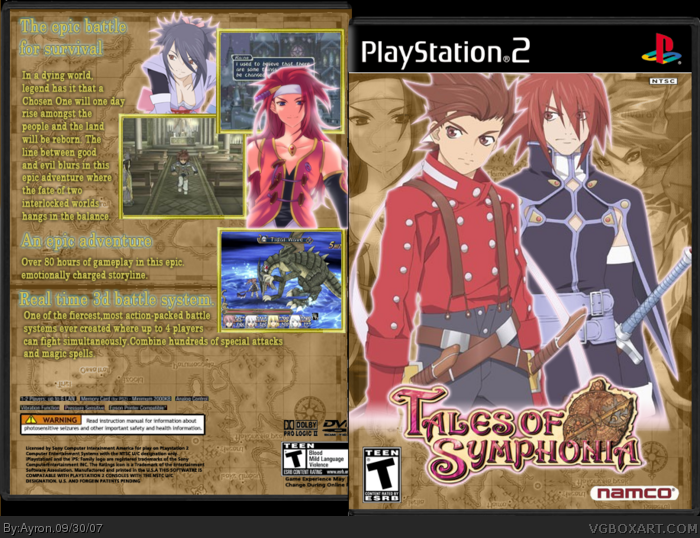 PlayStation 2 » Tales of Symphonia Box Cover