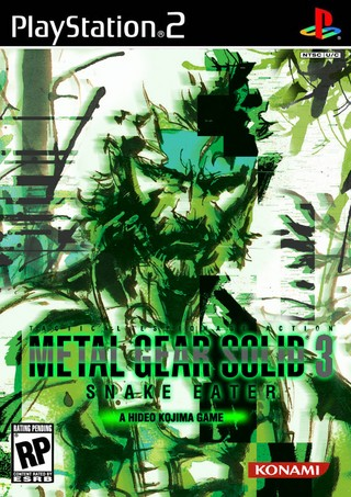 Metal Gear Solid 3 Snake Eater Playstation 2 Box Art Cover