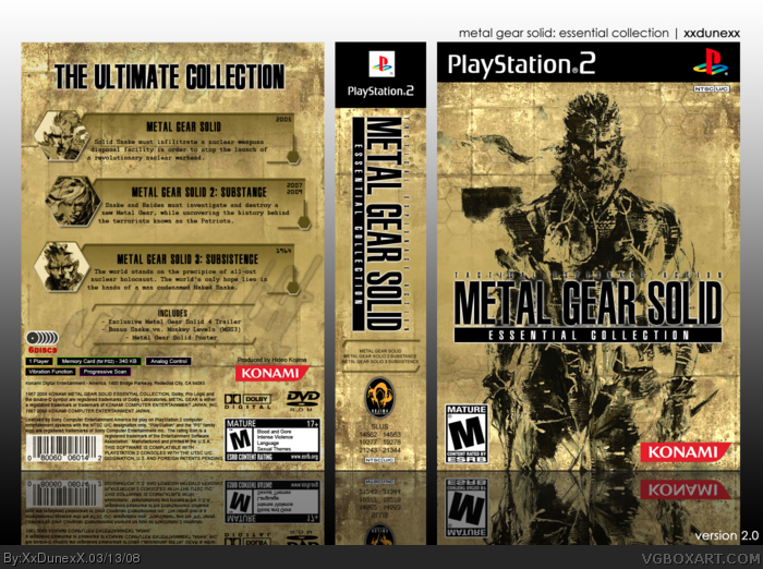 PlayStation 2 » Metal Gear Solid: Essential Collection Box Cover