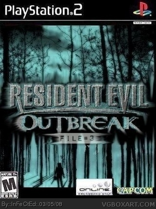 Resident Evil Outbreak File 3 Playstation 2 Box Art Cover By Infected