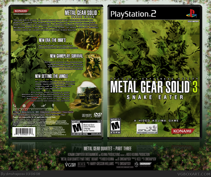 Metal Gear Solid 3: Snake Eater PlayStation 2 Box Art