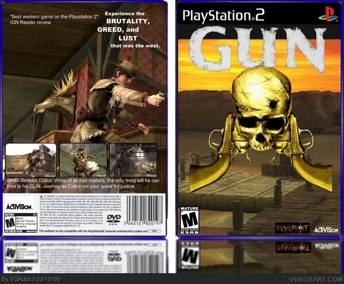 GUN PlayStation 2 Box Art Cover by VGAddict