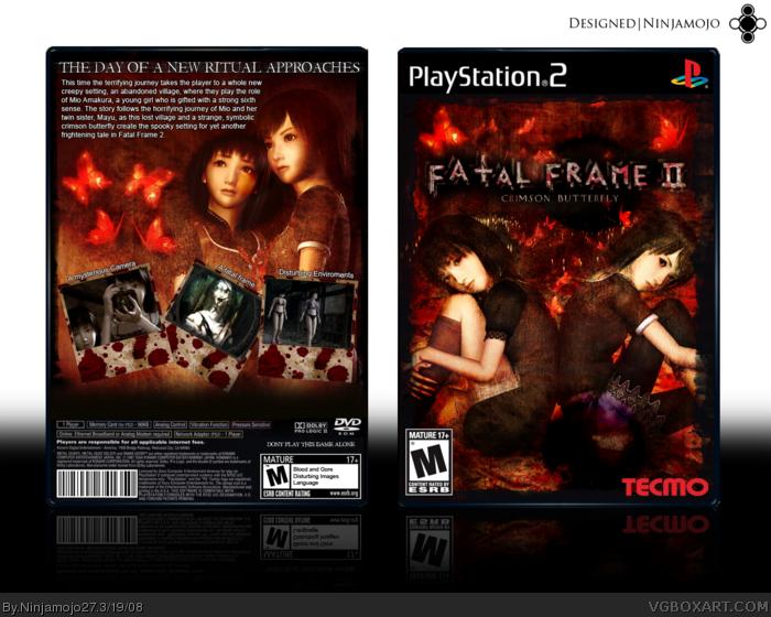Fatal Frame Ii Crimson Butterfly Playstation 2 Box Art