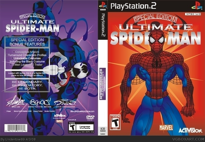 Ultimate Spider-Man Box Cover Comments