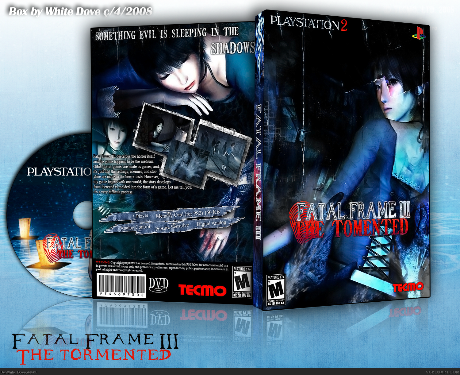 Fatal Frame III: The Tormented PlayStation 2 Box Art Cover by White_Dove