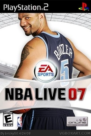 NBA Live 08 box cover