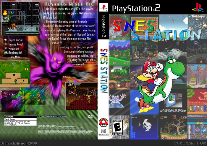 Snes Station Playstation 2 Box Art Cover By Psychotime