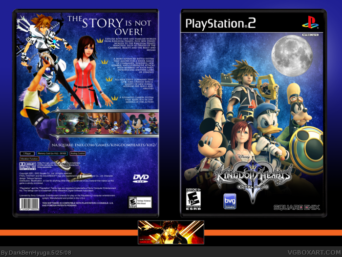 Kingdom Hearts II PlayStation 2 Box Art Cover by DarkBenHyuga