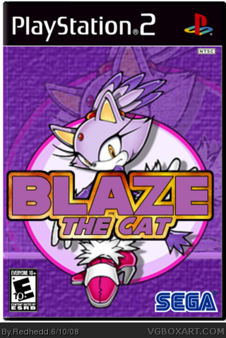 Playstation 2 blaze the cat box cover