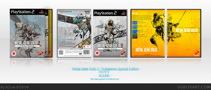Metal Gear Solid 2: Substance Special Edition box art cover