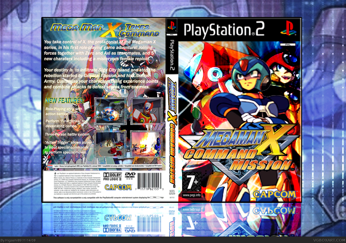 Megaman X Command Mission Playstation 2 Box Art Cover By