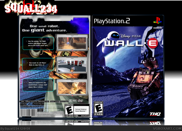 Wall.E PlayStation 2 Box Art Cover by Squall234