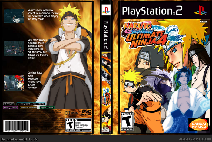 PlayStation 2 » Naruto Shippuden: Ultimate Ninja 4 Box Cover ? ?