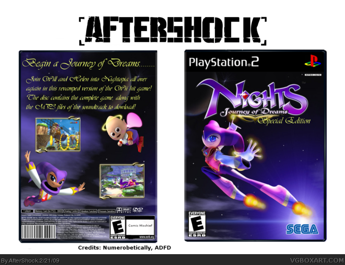 NiGHTS Journey Into Dreams (Special Edition) box art cover