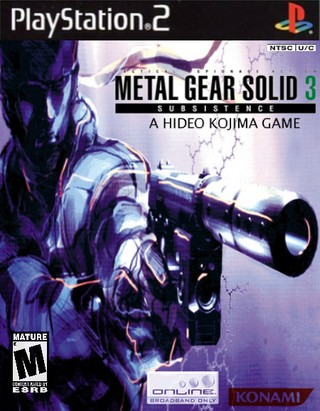metal gear solid 3 subsistence playstation 2 box art