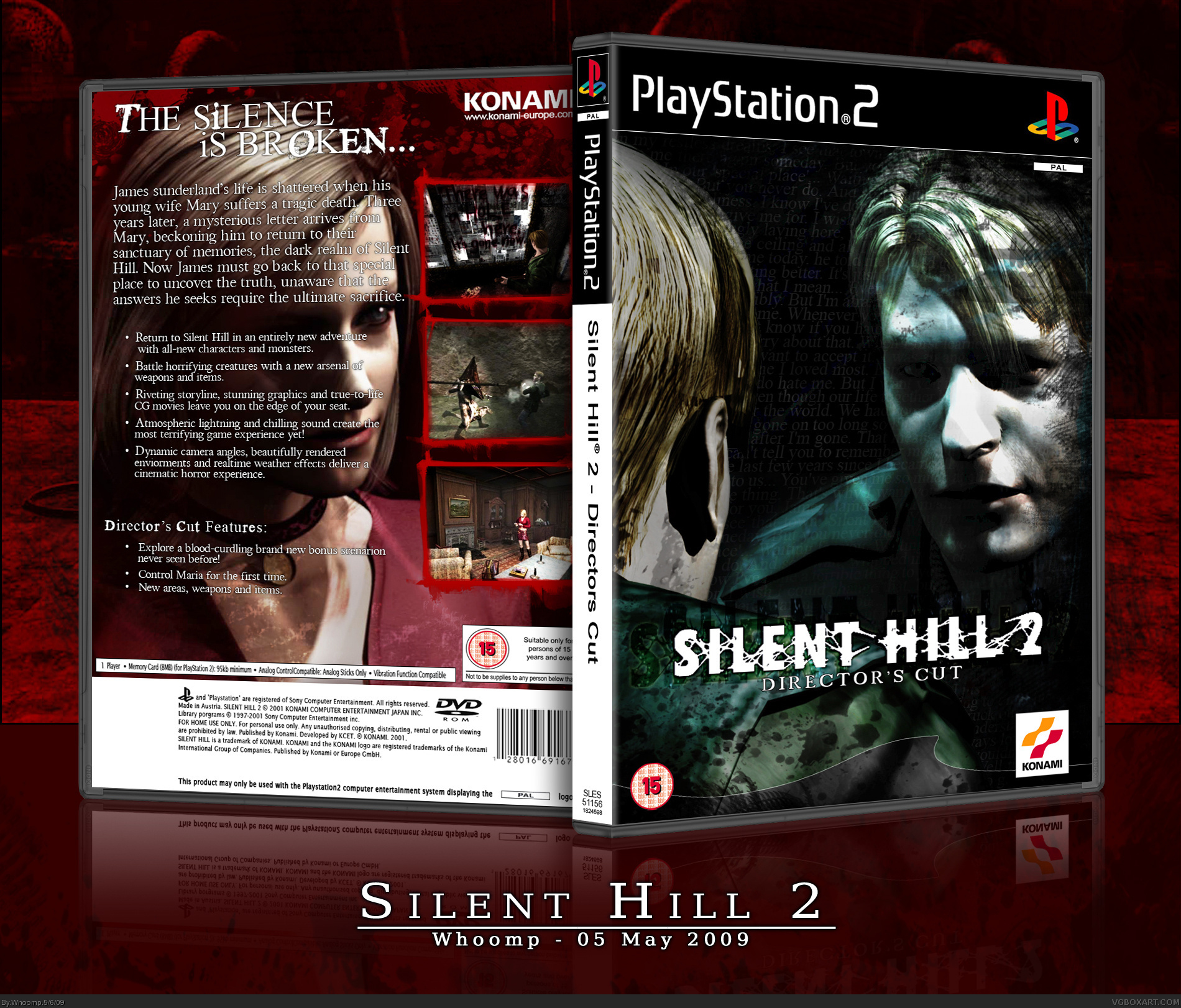 Silent Hill 2 Playstation 2 Box Art Cover By Whoomp
