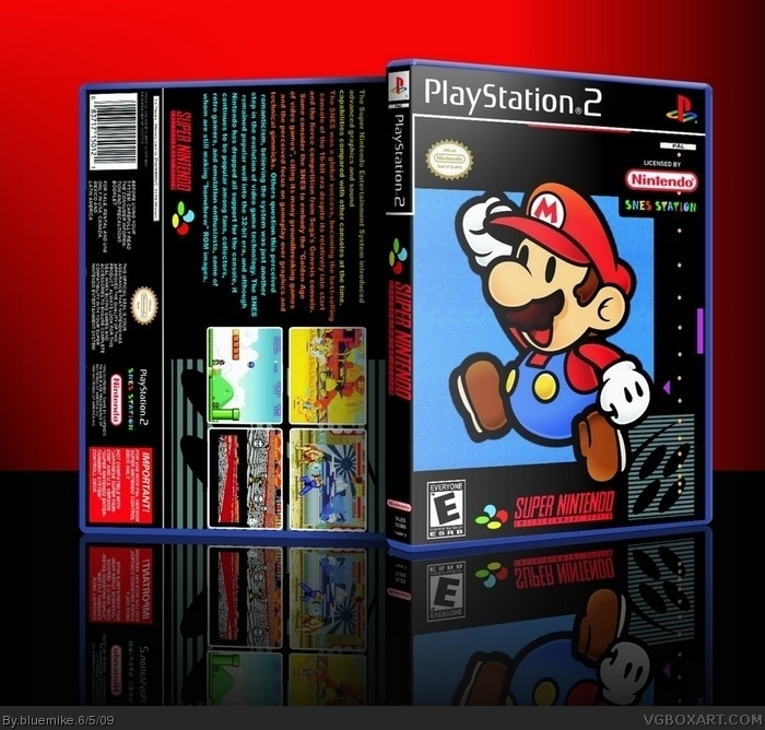 SNES Station PlayStation 2 Box Art Cover by bluemike