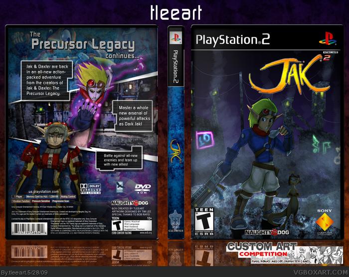 Jak II PlayStation 2 Box Art Cover by tleeart