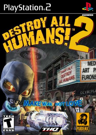 Destroy All Humans! 2 Xbox Ps3 Pc jtag rgh dvd iso Xbox360 Wii Nintendo Mac Linux