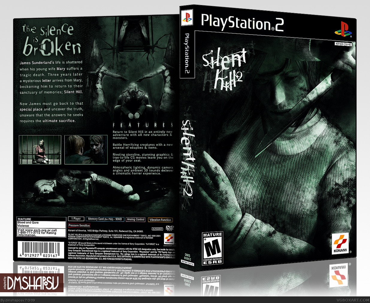 Viewing Full Size Silent Hill 2 Box Cover