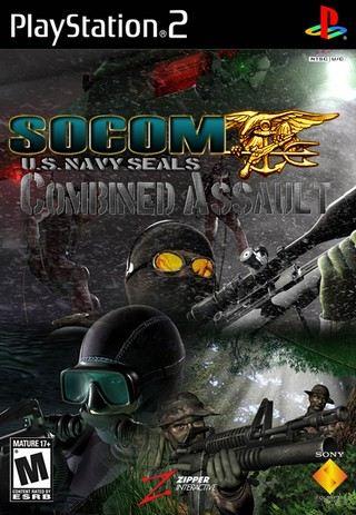SOCOM U S  Navy SEALs: Combined Assault PlayStation 2 Box