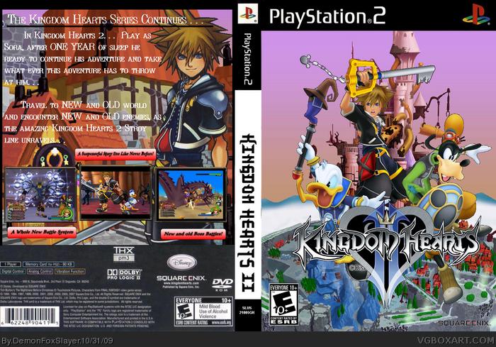 Kingdom Hearts 2 PlayStation 2 Box Art Cover by DemonFoxSlayer
