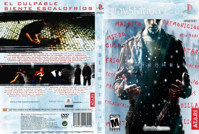 Fahrenheit PlayStation 2 Box Art Cover by shyngo