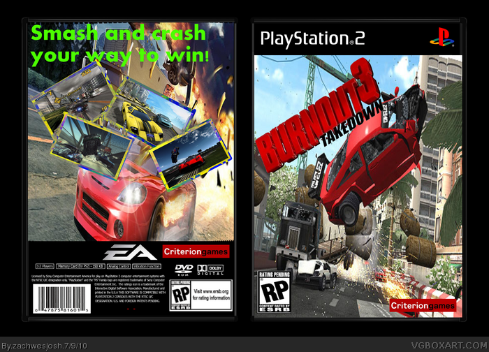 Burnout 3: Takedown Box Cover Comments