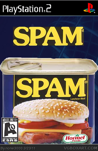 SPAM the game box cover