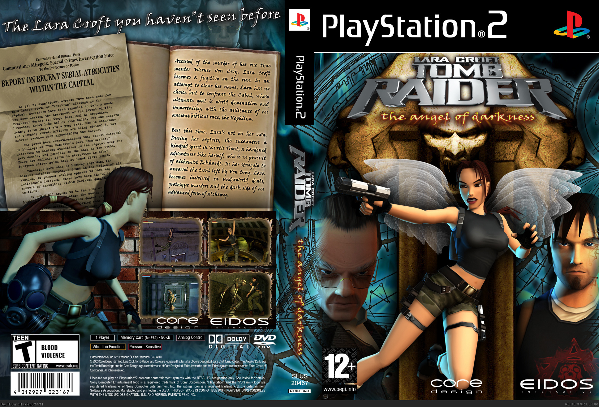 PlayStation 2 » Tomb Raider: The Angel Of Darkness Box Cover ? ?