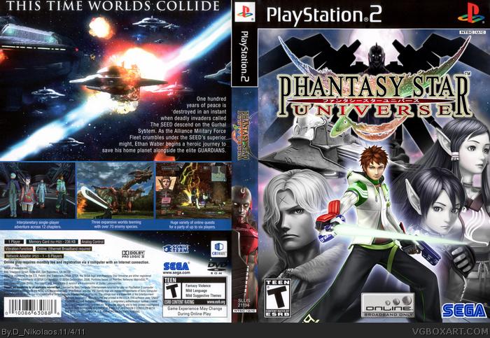 Genesis 38 8 >> Phantasy Star Universe PlayStation 2 Box Art Cover by D_Nikolaos
