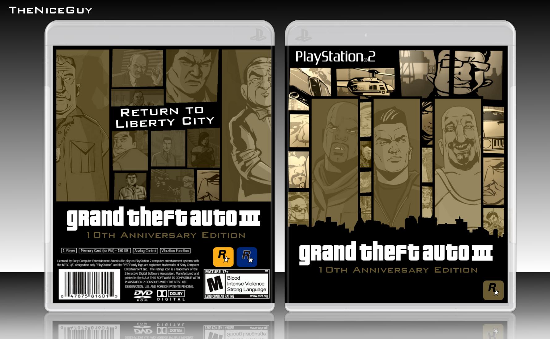 grand theft auto iii anniversary edition playstation 2 box