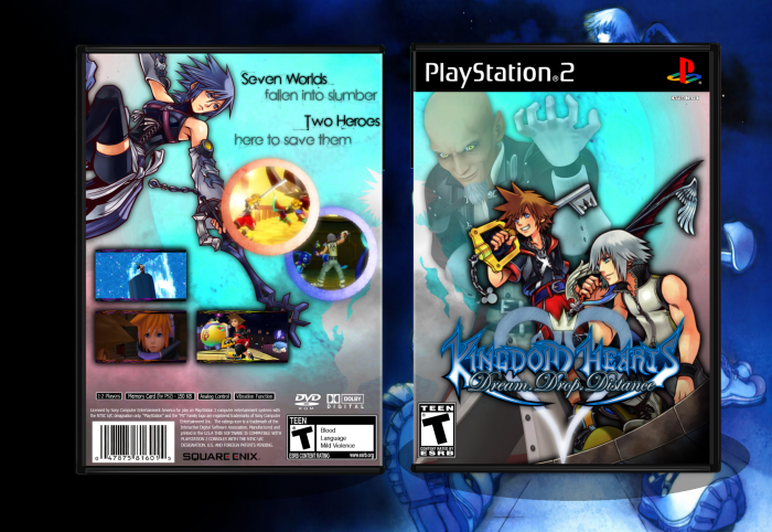 Kingdom Hearts: Dream Drop Distance box art cover