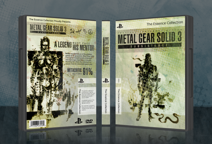 Metal Gear Solid 3: Subsistence box art cover