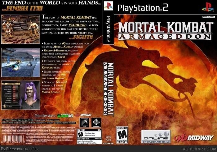 PlayStation 2 » Mortal Kombat: Armageddon Box Cover