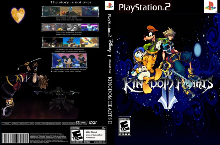 Kingdom Hearts 2 PlayStation 2 Box Art Cover by Theawesomeguy457