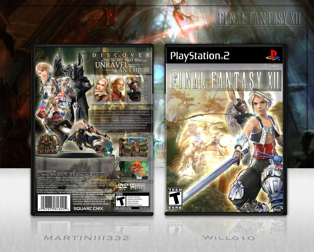 Final Fantasy XII box cover